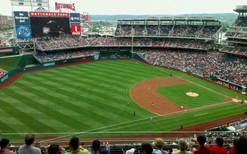 Seating view for Nationals Park Section 404 Row J Seat 16