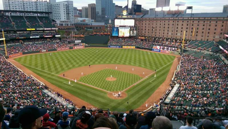 Seating view for Oriole Park at Camden Yards Section 340 Row 17 Seat 6