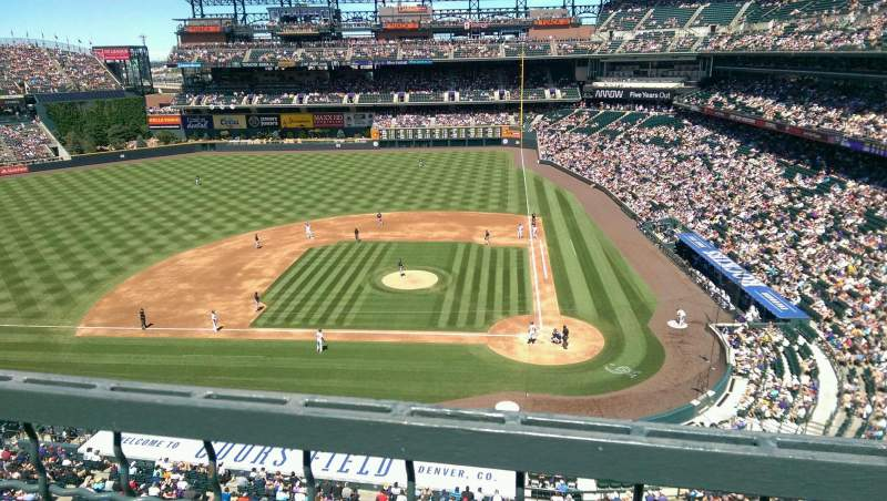 Coors Field Section L335 Row 1 Seat 13 Colorado Rockies