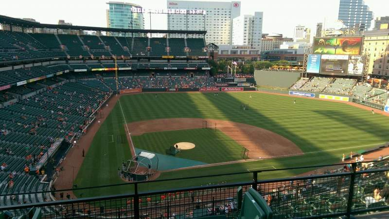 Seating view for Oriole Park at Camden Yards Section 328 Row 9 Seat 8