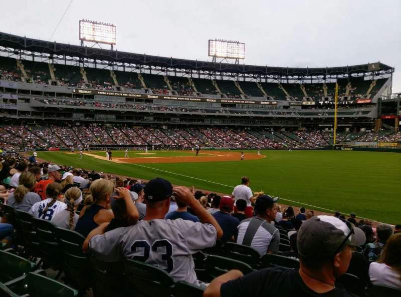Seating view for Guaranteed Rate Field Section 113 Row 15 Seat 1