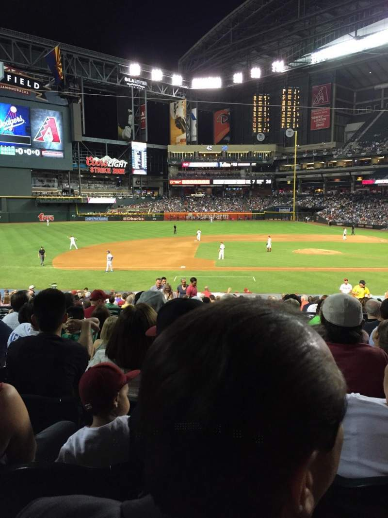 Seating view for Chase Field Section 128 Row 28 Seat 9