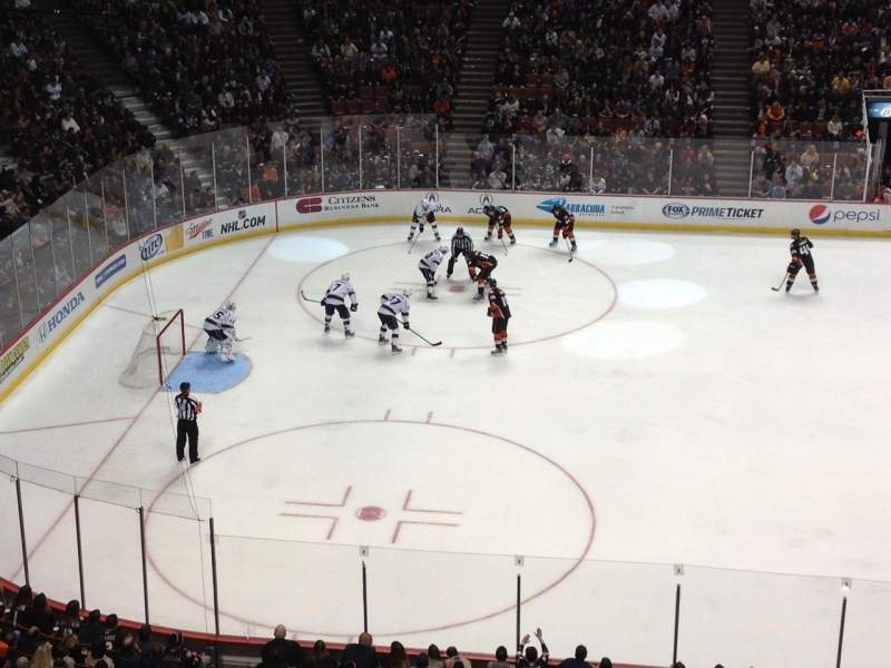Seating view for Honda Center Section 435 Row A Seat 15