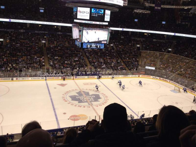 Seating view for Air Canada Centre Section 310 Row 4 Seat 10