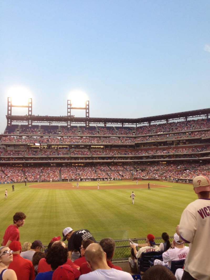 Seating view for Citizens Bank Park Section 144 Row 9 Seat 2