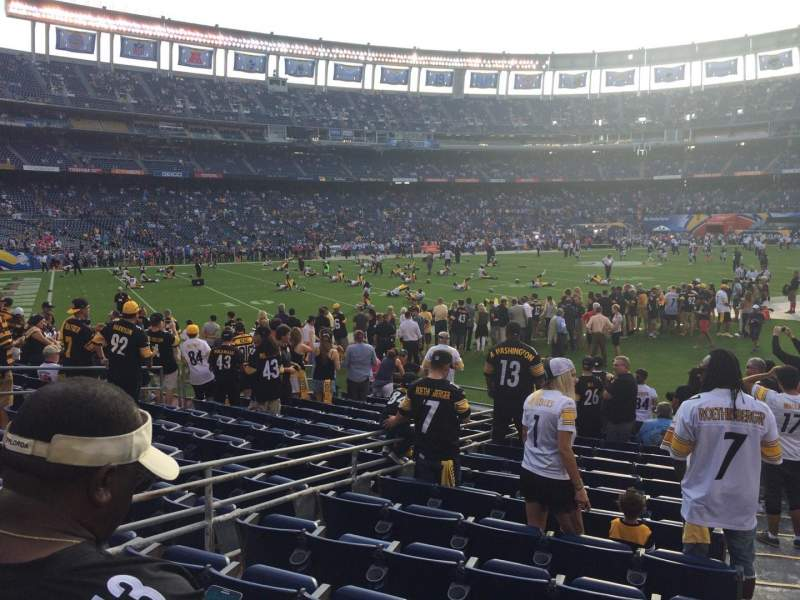 Seating view for Qualcomm Stadium Section F0 Row 14 Seat 4