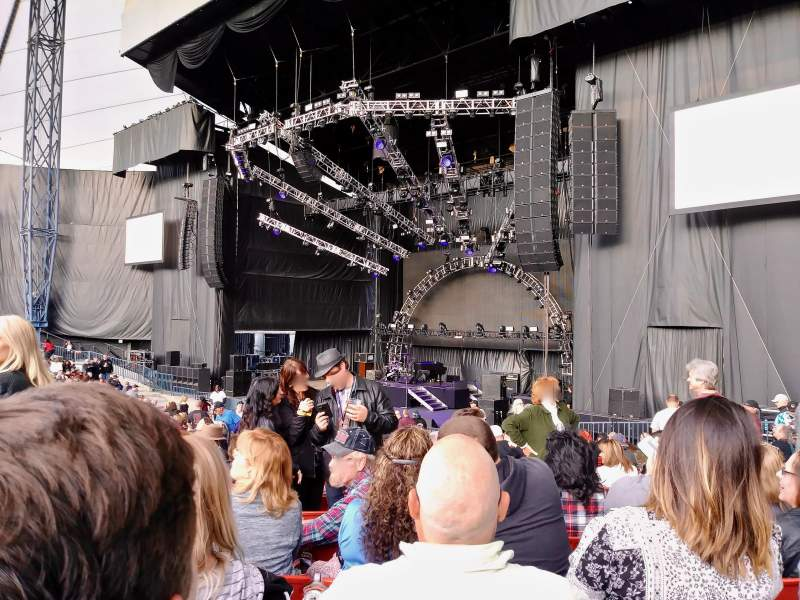 Seating view for Shoreline Amphitheatre Section 101 Row S Seat 17