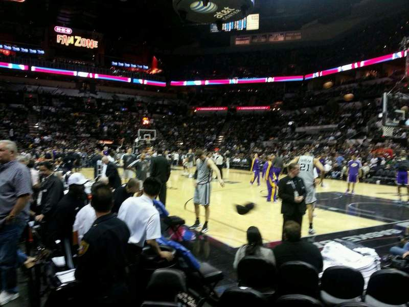 Seating view for AT&T Center Section 4 Row 6 Seat 1