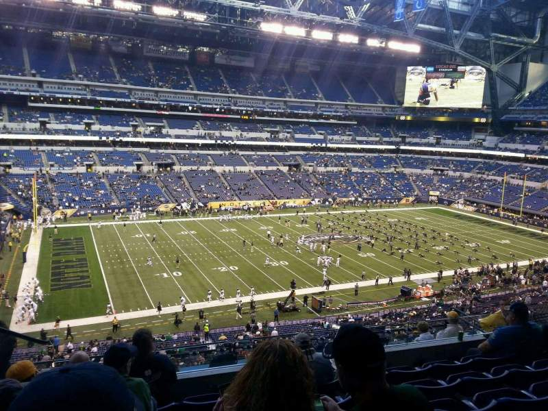 Seating view for Lucas Oil Stadium Section 444 Row 6 Seat 20
