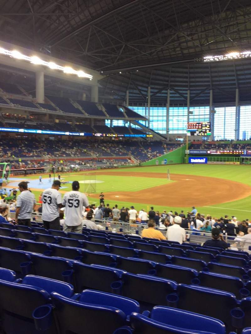 Seating view for Marlins Park Section 7 Row 9 Seat 7