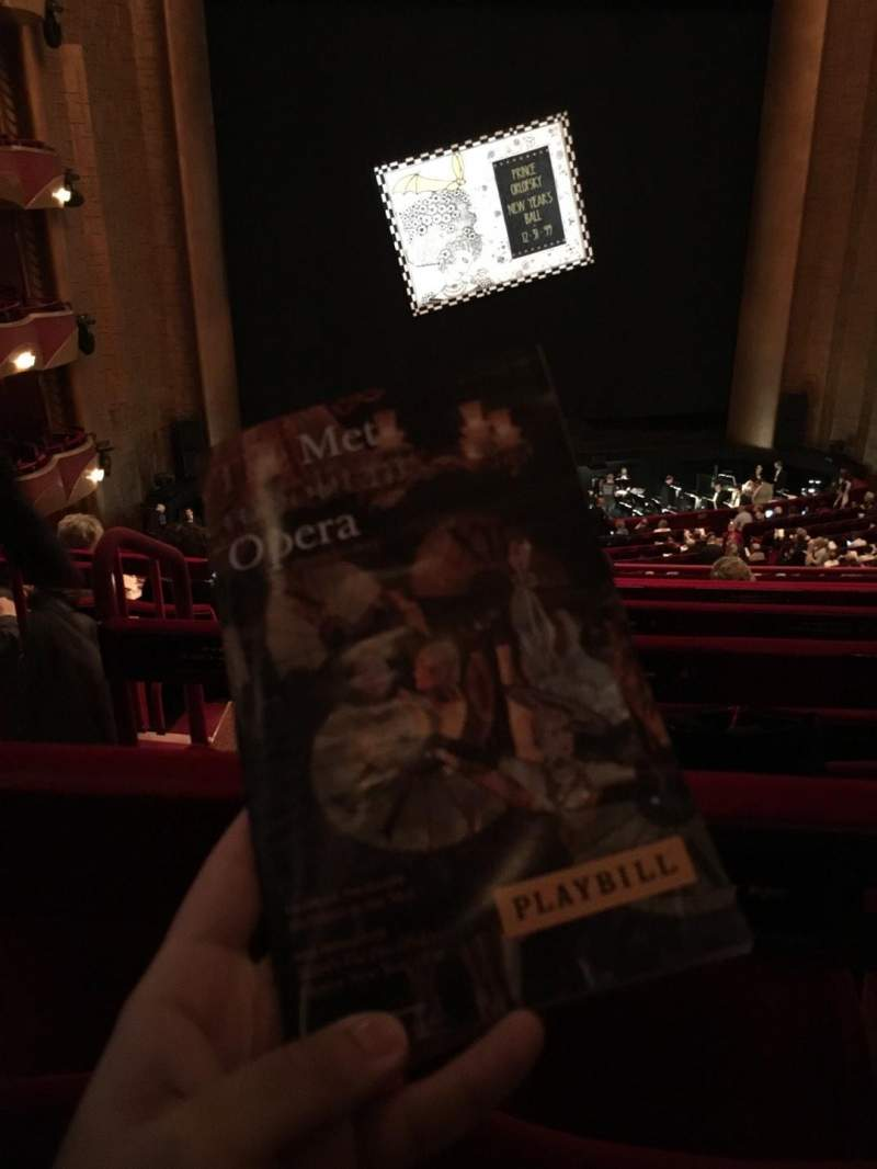 Seating view for Metropolitan Opera House - Lincoln Center Section Grand Tier Row F Seat 126