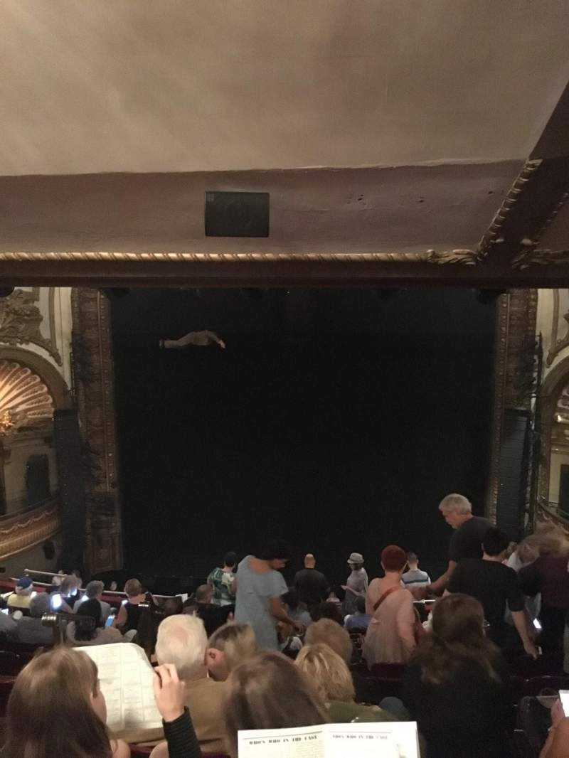 Seating view for Palace Theatre (Broadway) Section Rear Mezzanine Row M Seat 104