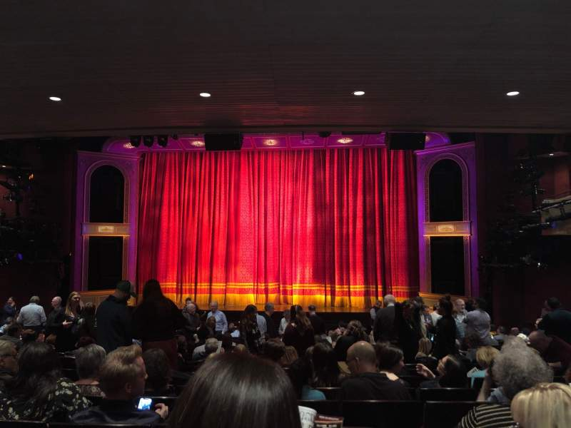 Seating view for Marquis Theatre Section Orchestra C Row U Seat 119