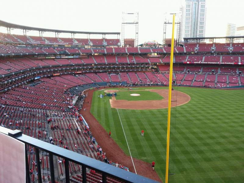 Seating view for Busch Stadium Section 330 Row 1 Seat 8