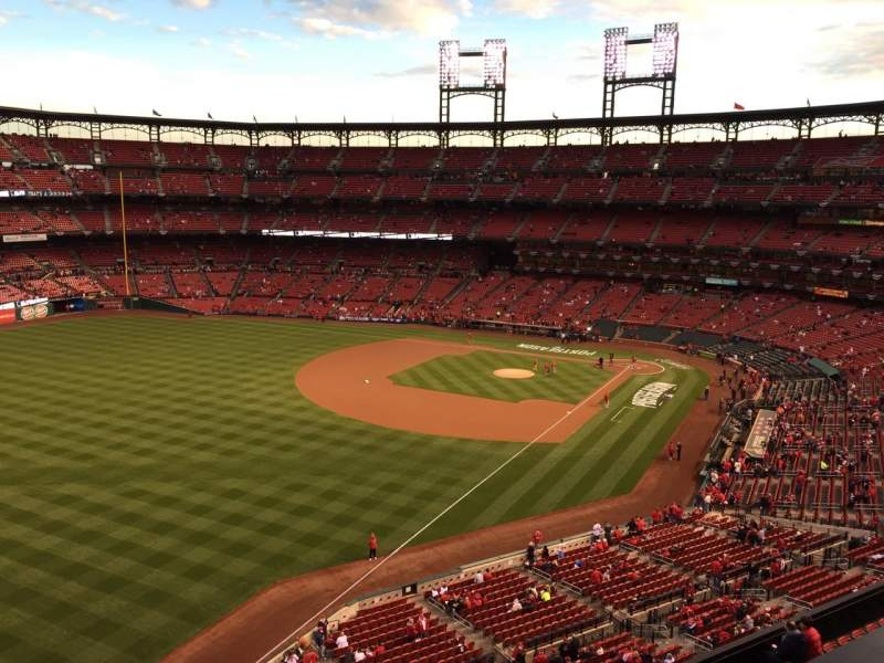 Seating view for Busch Stadium Section 367 Row 1 Seat 24
