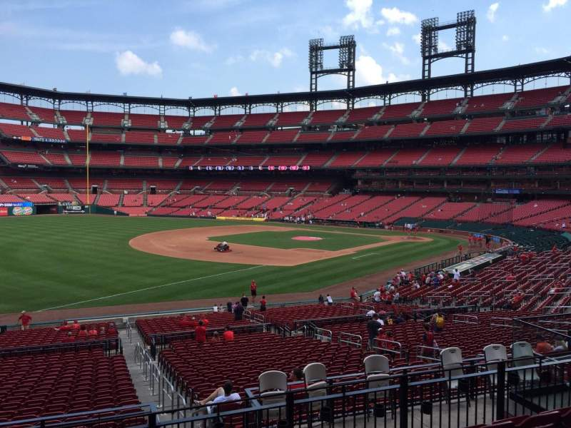 Seating view for Busch Stadium Section 163 Row 24 Seat 11