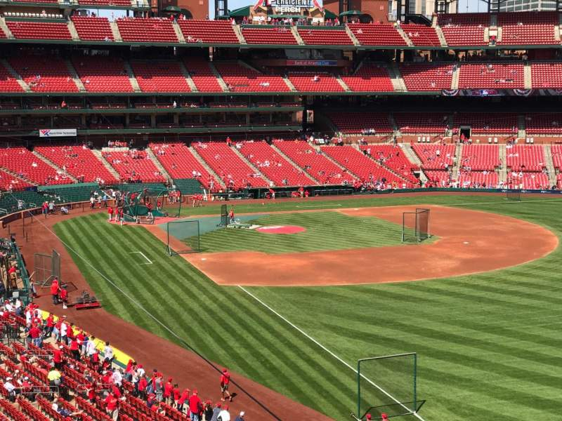 Seating view for Busch Stadium Section 232 Row 1 Seat 17