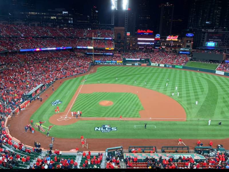 Seating view for Busch Stadium Section 345 Row 3 Seat 12