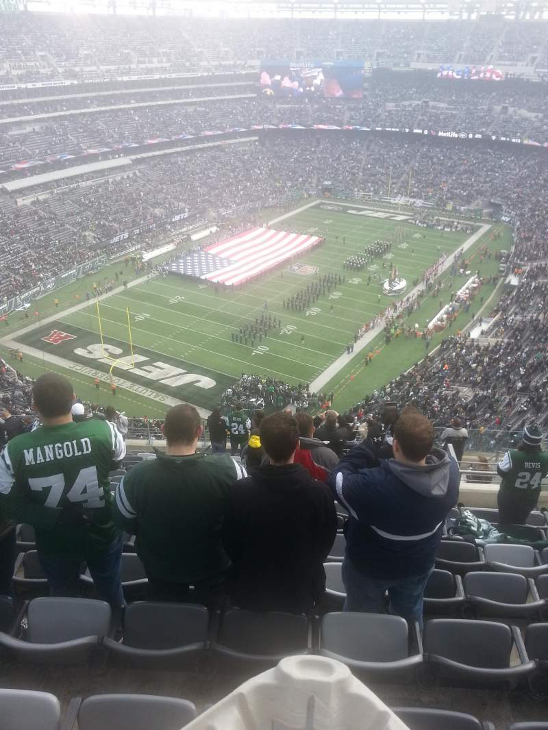 Seating view for Metlife Stadium Section 347 Row 20 Seat 6