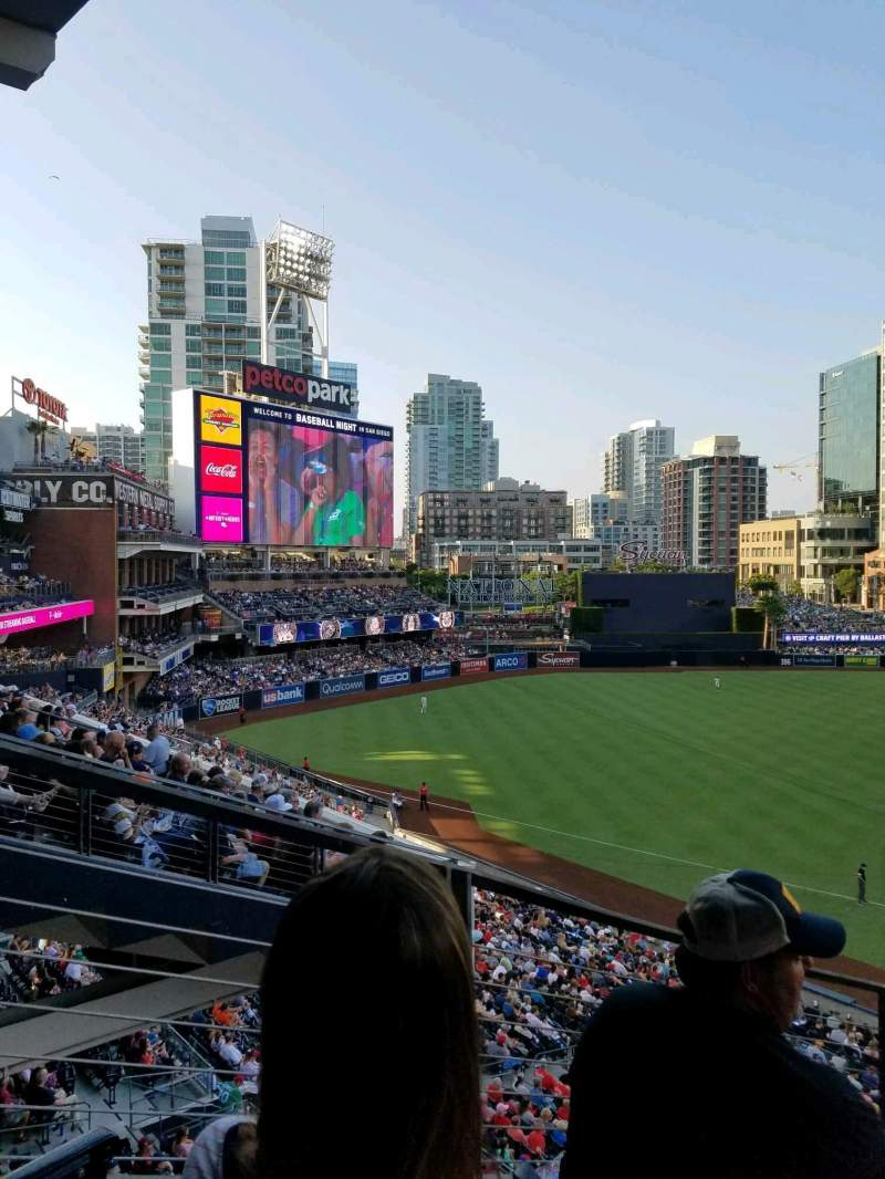 Seating view for PETCO Park Section 210 Row 11 Seat 7