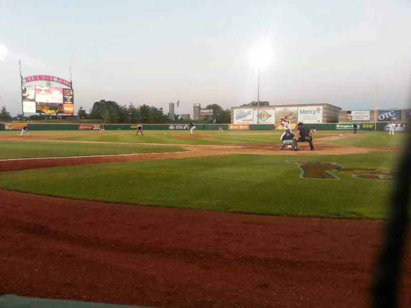 Seating view for Hammons Field Section I Row 1 Seat 8