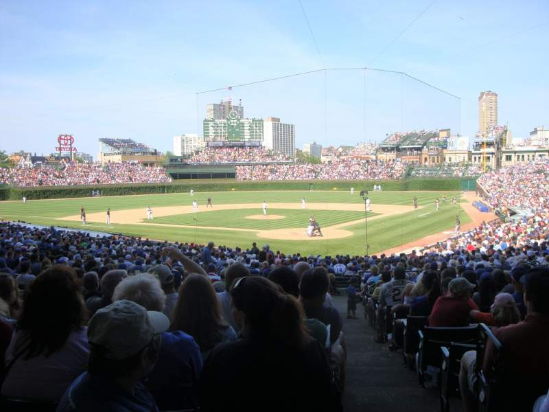 Seating view for Wrigley Field Section 219 Row 1 Seat 8