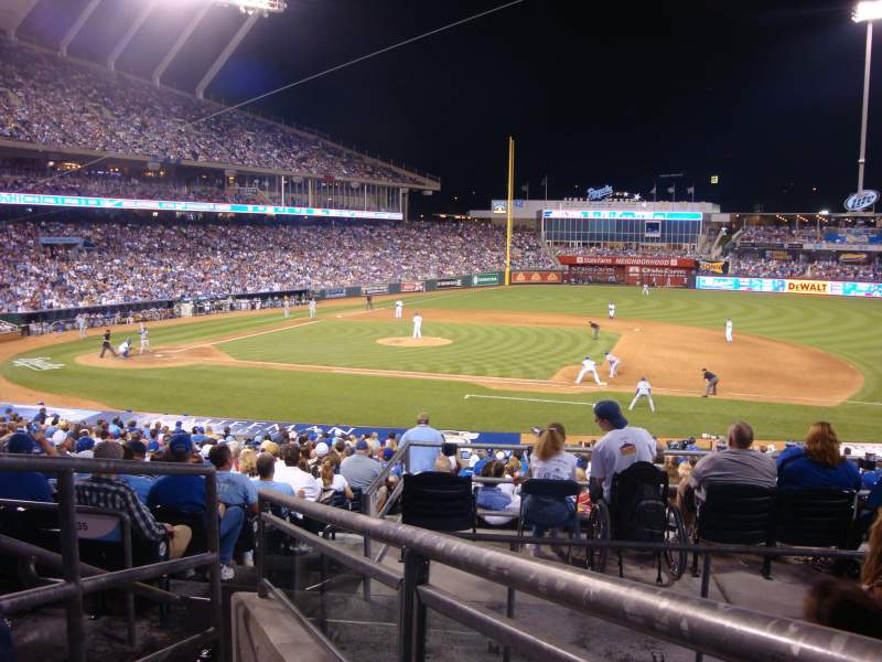 Seating view for Kauffman Stadium Section 236 Row DD Seat 3