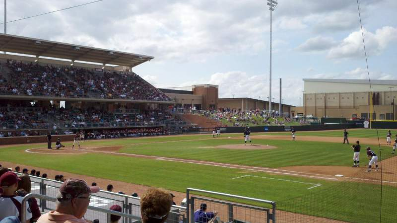 Seating view for Olsen Field