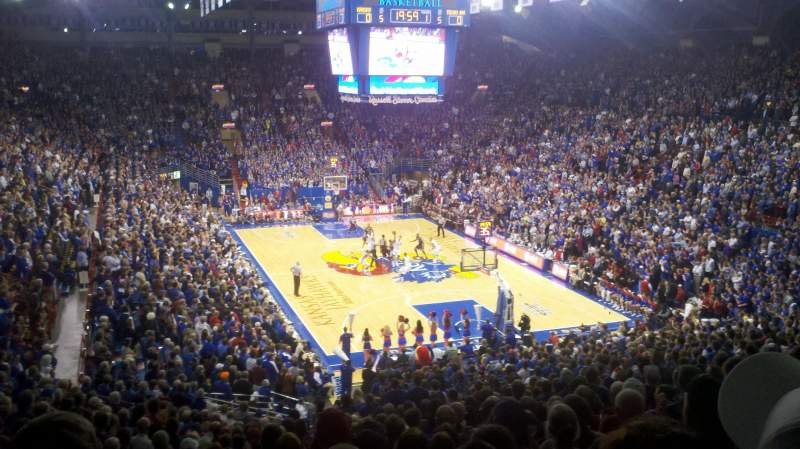 Seating view for Allen Fieldhouse Section 2 Row 21 Seat 12
