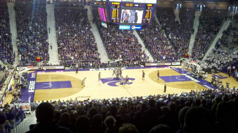 Seating view for Bramlage Coliseum Section 7 Row 32 Seat 14