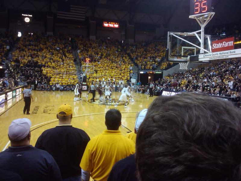 Seating view for Mizzou Arena Section 110 Row 4 Seat 9