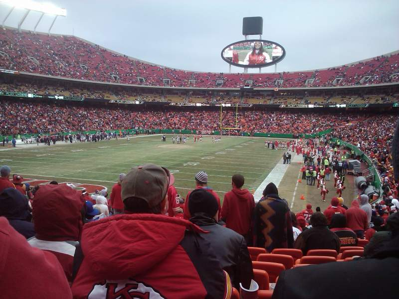 Seating view for Arrowhead Stadium Section 126 Row 25 Seat 12