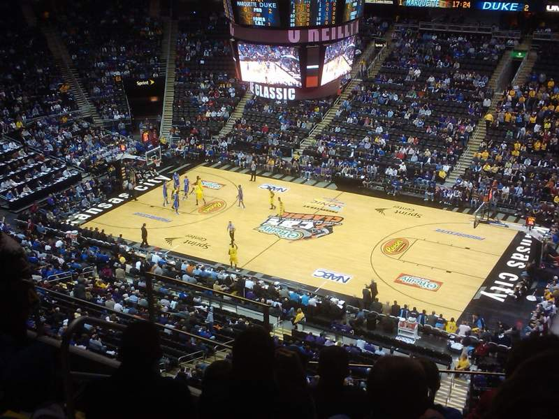 Seating view for Sprint Center Section 206 Row 6 Seat 21