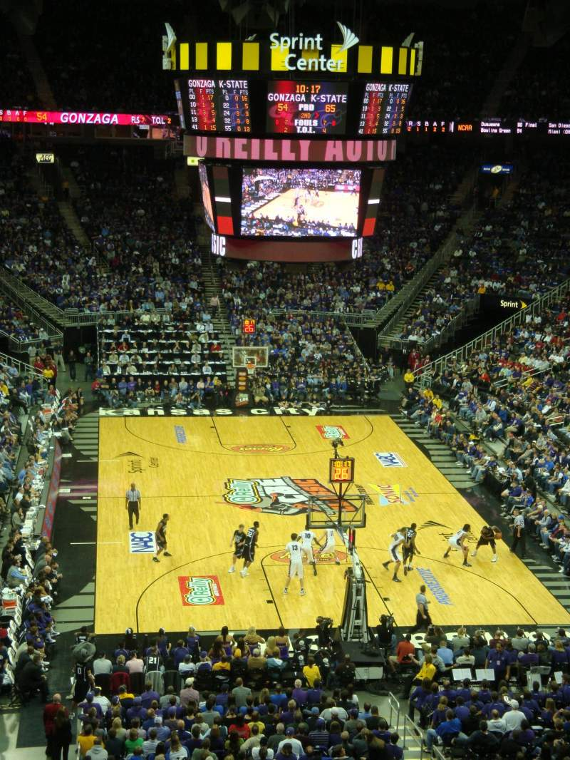 Seating view for Sprint Center Section 201 Row 2 Seat 10