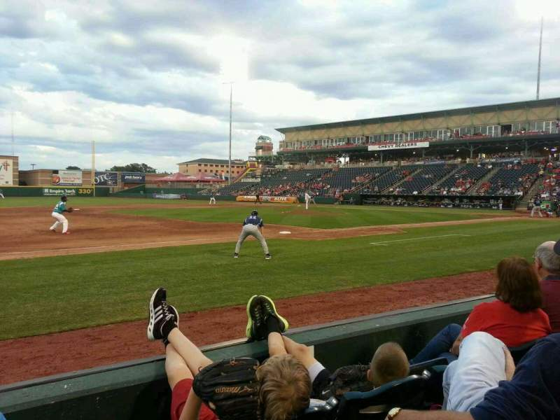 Seating view for Hammons Field Section M Row 4 Seat 15