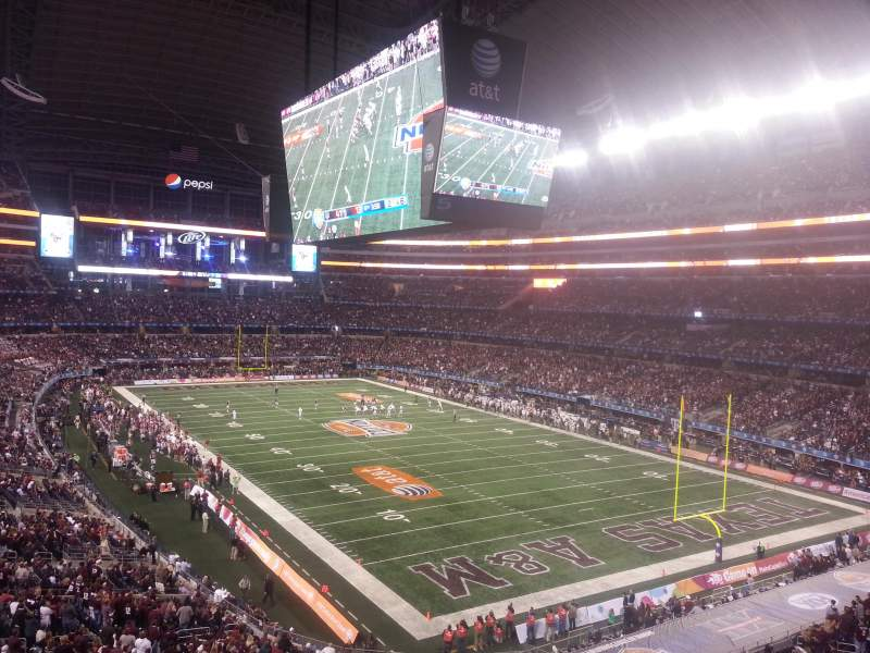 Seating view for AT&T Stadium Section 302 Row 2 Seat 21