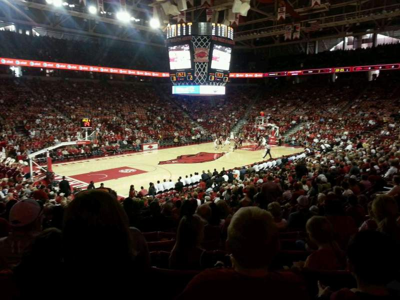 Seating view for Bud Walton Arena Section 119 Row 9 Seat 10