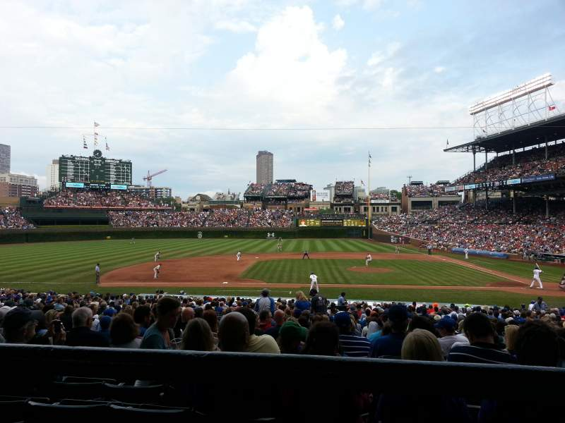 Seating view for Wrigley Field Section 215 Row 1 Seat 110