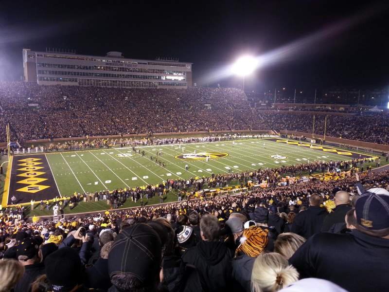 Seating view for Faurot Field Section DD Row 66 Seat 6
