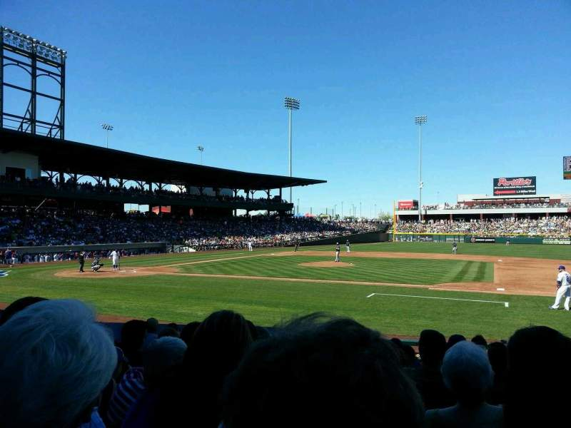 Seating view for Sloan Park Section 116 Row 13 Seat 10