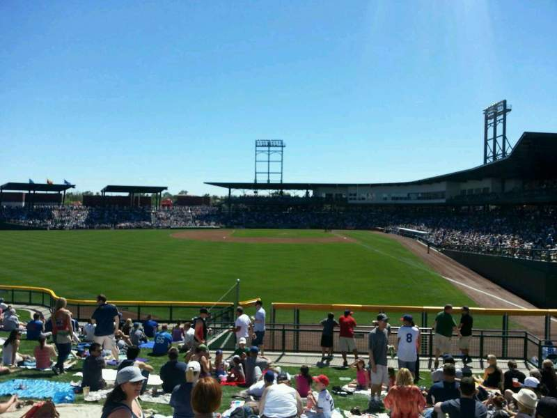 Seating view for Sloan Park Section LF Berm