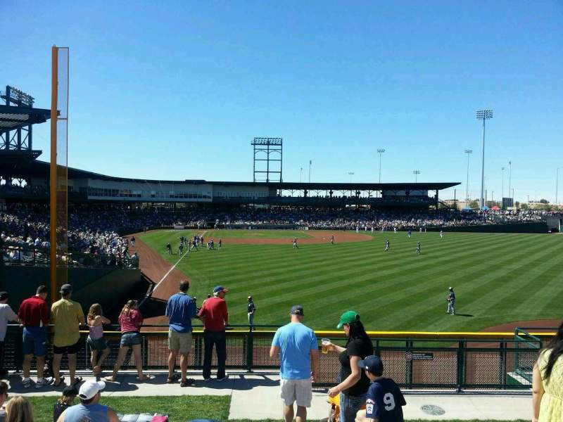 Seating view for Sloan Park Section RF Berm