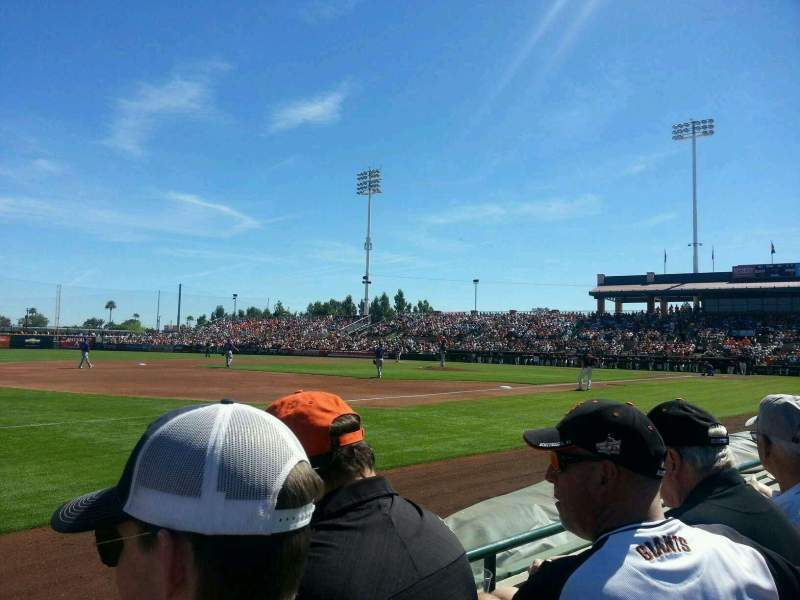 Seating view for Scottsdale Stadium Section 121 Row B Seat 10