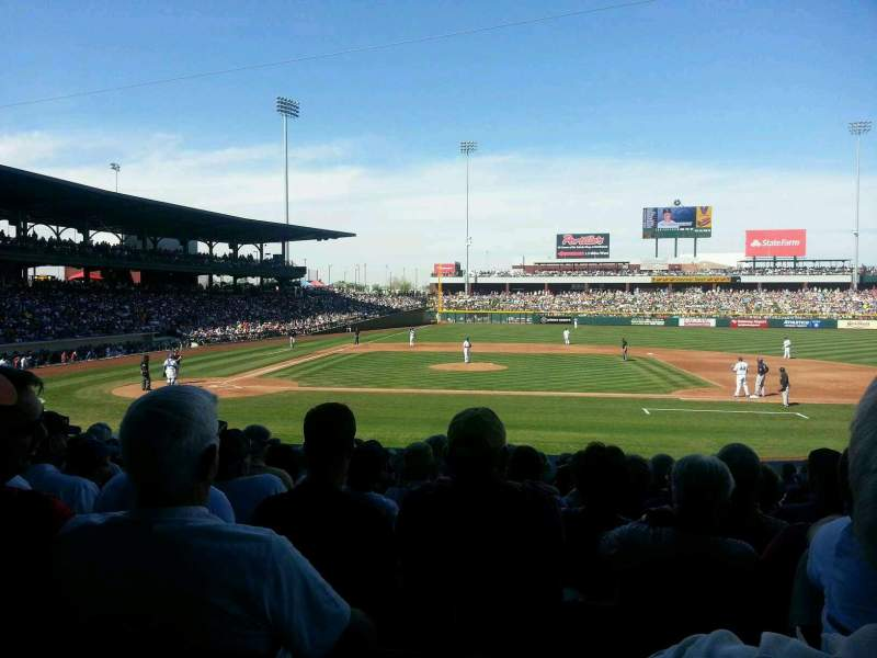 Seating view for Sloan Park Section 115 Row 20 Seat 10