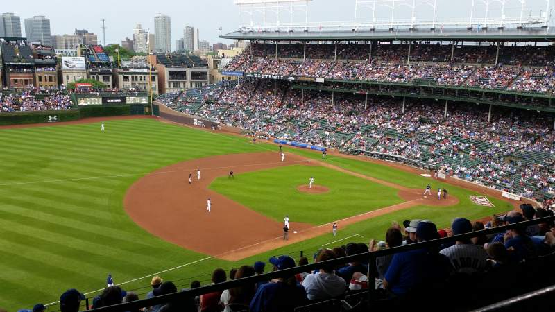 Seating view for Wrigley Field Section 509 Row 1 Seat 115