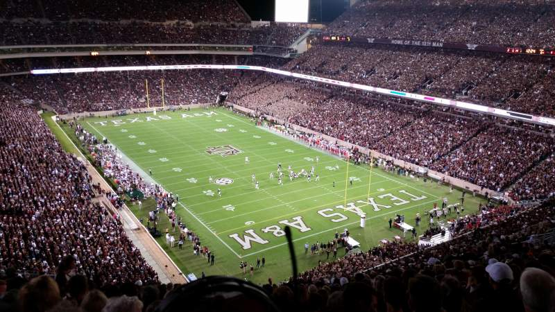 Seating view for Kyle Field Section 349 Row 23 Seat 17