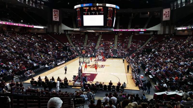 Seating view for Reed Arena Section 127