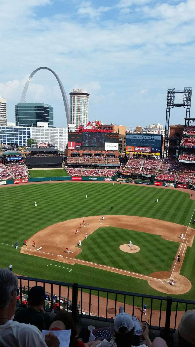 Seating view for Busch Stadium Section 453 Row 4 Seat 11