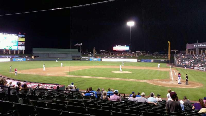 Seating view for Dell Diamond Section 117 Row 20 Seat 4