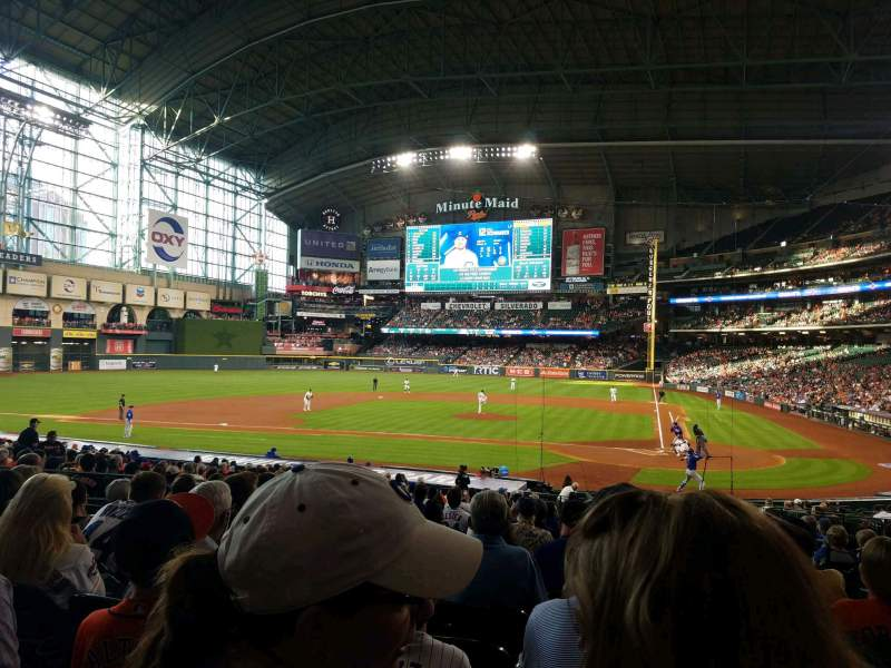 Seating view for Minute Maid Park Section 116 Row 28 Seat 12